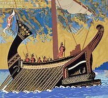 The Ship of Odysseus by Bridgeman Art Library