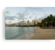Waikiki beach dawn Canvas Print
