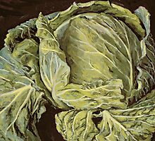 Cabbage Still Life by Bridgeman Art Library