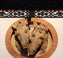 Two Horses In The Wall by Menega  Sabidussi