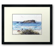 Cook Island From Fingal Head Framed Print