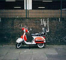 Red and white scooter by Zise
