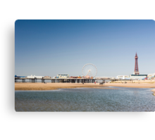 Blackpool Tower and central pier Canvas Print