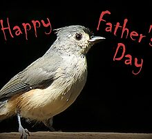 Happy Father's Day - Little Gray Bird by Jean Gregory  Evans