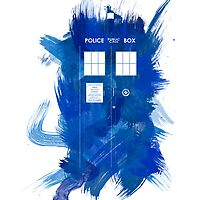 Watercolor TARDIS by fairandbright