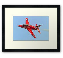 Red Arrows Hawk T.1 with anniversary paint job Framed Print