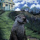Otter by nightside