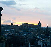 Edinburgh skyline at sunset by photoeverywhere