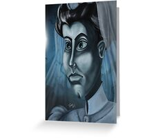 The Haunted Mansion Bride by Topher Adam Greeting Card