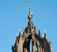 Spire of St Giles Cathedral, Edinburgh by photoeverywhere