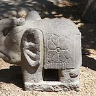 Carved stone elephant by Maggie Hegarty