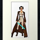 framed princess leia as jedi knight by DrWhoJohnSmith