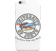 University of Johto - Black Outlines! iPhone Case/Skin