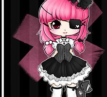 Pink gothic lollypop girl by linkitty
