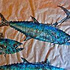 School of Mackerel - Spanish Invasion by IslandFishPrint