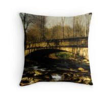 Bridge in The Great Smoky National Park Throw Pillow