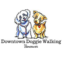 Downtown Doggie Walking | Logo Design by Off-Leash Art by offleashart