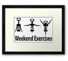 Weekend exercises Framed Print