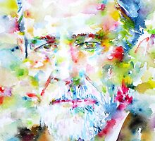 SIGMUND FREUD watercolor portrait by lautir