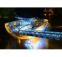 Artificial floating platform in Graz Austria Photographic Print