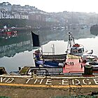 Fair warning on a misty morn at Brixham by Photography  by Mathilde