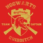 Gryffindor Crest Quidditch Team Captain Shirt by hopper1982