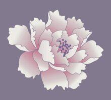 Pink Japanese Peony Flower by paper-kawaii
