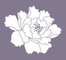 White Japanese Peony Flower by paper-kawaii