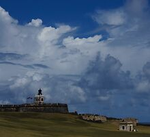 Dramatic Tropical Sky Over Old San Juan, Puerto Rico by Georgia Mizuleva