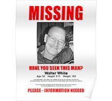 "Breaking Bad ""Missing"" Poster Poster"