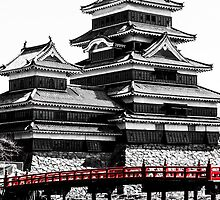 Matsumoto - Black and white of the castle by Quentin Jarc