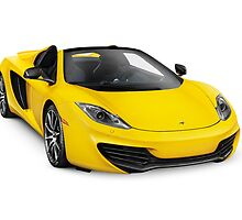 2014 McLaren MP4-12C Convertible sports car art photo print by ArtNudePhotos