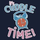 It's CUDDLE time! with cute clock  by jazzydevil