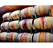 Racks of Wine Barrels Photographic Print