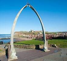 Whale bone monument at Whitby by photoeverywhere