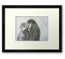Just the Two Of Us Against the Rest of the World Framed Print