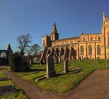 Panoramic View of Dunfermline Palace, Abbey and Graveyard by Miles Gray