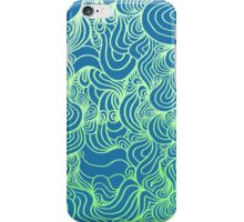 PSYCHOLINES Phone Case- Blue/Lime Green/Pastel Green iPhone Case/Skin