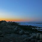 Monterey and the Crescent Moon by David Denny