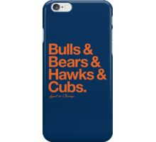 Loyal to Chicago - North Side (Orange Print) iPhone Case/Skin