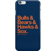 Loyal to Chicago - South Side (Orange Print) iPhone Case/Skin