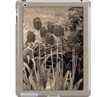 sepia tulip clump iPad Case/Skin