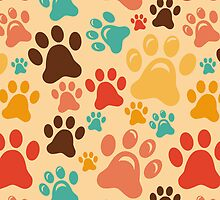 Animal paws dog pet puppy pattern by majuli1990