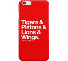 Loyal to Detroit (White Print) iPhone Case/Skin