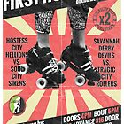 Savannah Derby Devils First Home Bout (2013) Poster by five5six
