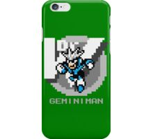 Gemini Man with Grey Text iPhone Case/Skin