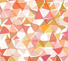 shuffled colorful triangle pattern background by elgreko