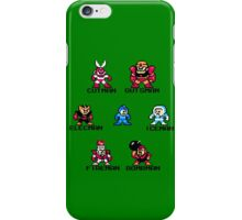 Megaman Who will you fight (black text) iPhone Case/Skin