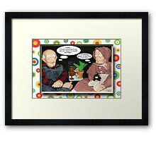 Paw and Maw I'm Listening Framed Print