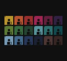 Colorful Floppy Discs by House Of Flo